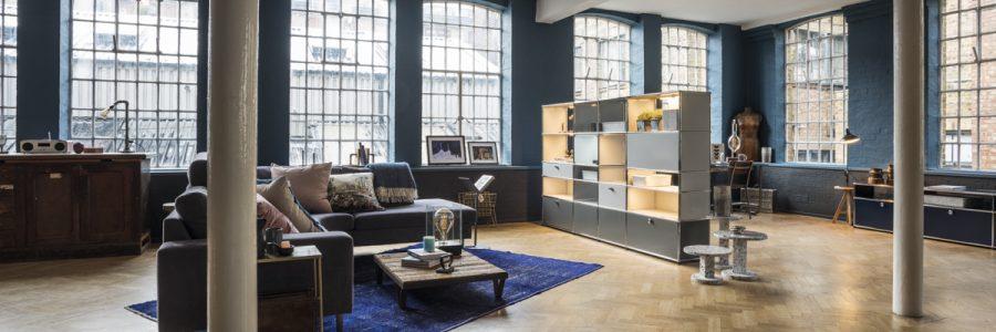 usm haller e space international hotel design. Black Bedroom Furniture Sets. Home Design Ideas