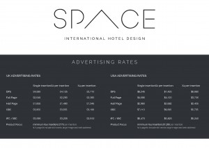 SPACE rates UK & USA