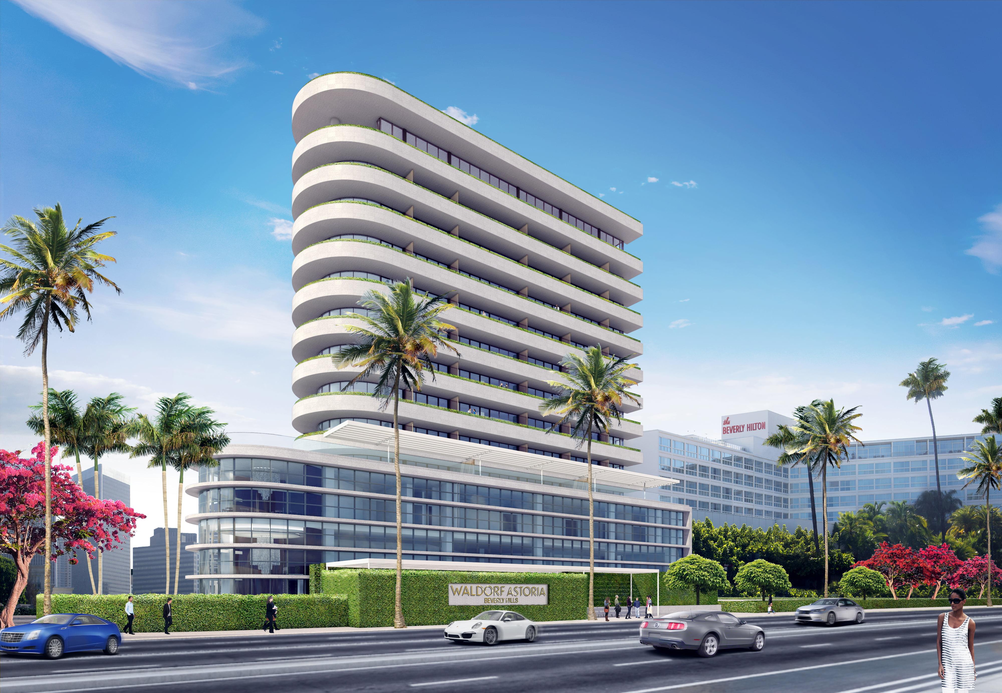 Waldorf Astoria Beverly Hills Exterior Rendering 21786442458 O E International Hotel Design